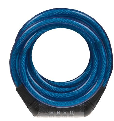 Summit spiraalslot met cijfercombinatie Pursuit 1800 mm blauw