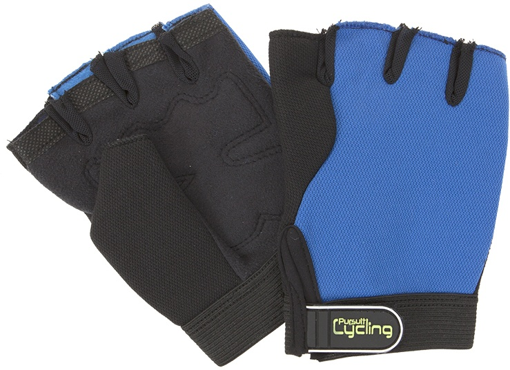 Summit Pursuit Padded Grip Cycle Gloves blauw maat L