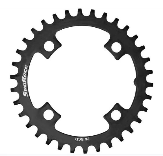 SunRace Crmx kettingblad BCD 96 mm staal 30T zwart