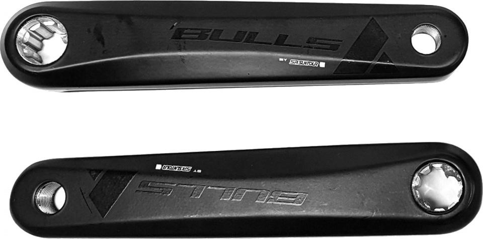 Suntour crankset Bulls Bosch 170 mm staal zwart