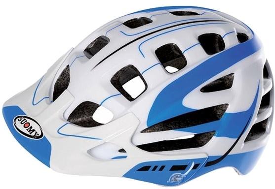 Suomy helm Scrambler S Line unisex wit/blauw maat 59 62 cm