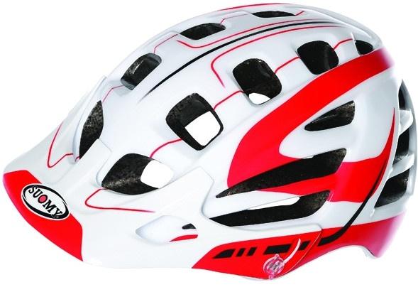 Suomy helm Scrambler S Line unisex wit/rood maat 59 62 cm