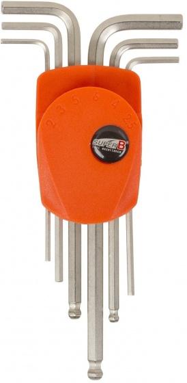 Super B inbussleutelset staal oranje/zilver 6 delig