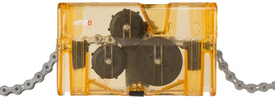 Super B kettingreiniger Classic TB 3208 15 x 8 cm transparant/oranje