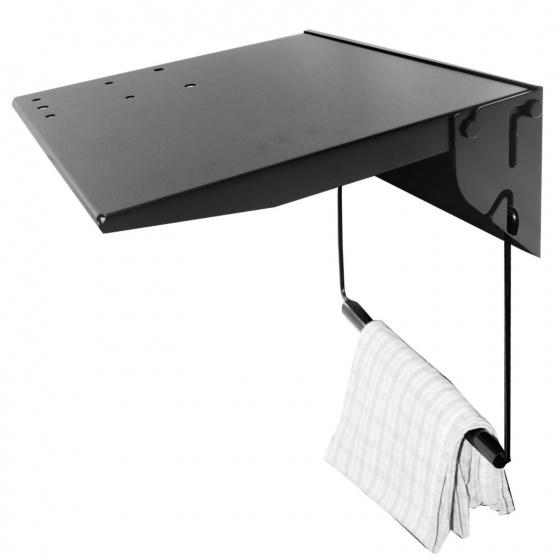 Super B workstation plank staal zwart 40 x 44 cm