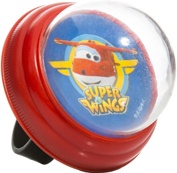 Super Wings fietsbel 55 mm rood