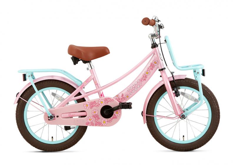 Supersuper - Lola 16 Inch 25,4 Cm Meisjes V-brakes Roze/turquoise