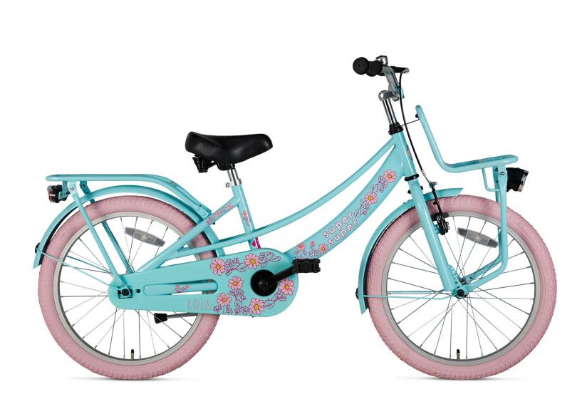 Supersuper Lola 20 Inch 31,75 cm Meisjes V Brakes Lichtblauw/Roze