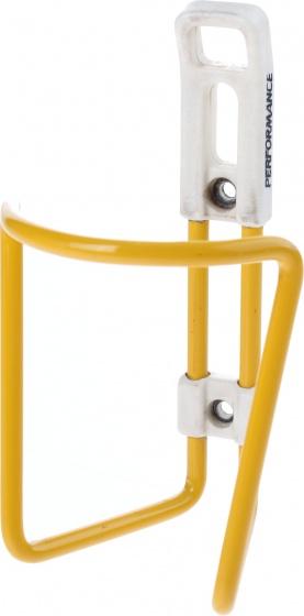 Tacx bidonhouder aluminium geel/wit