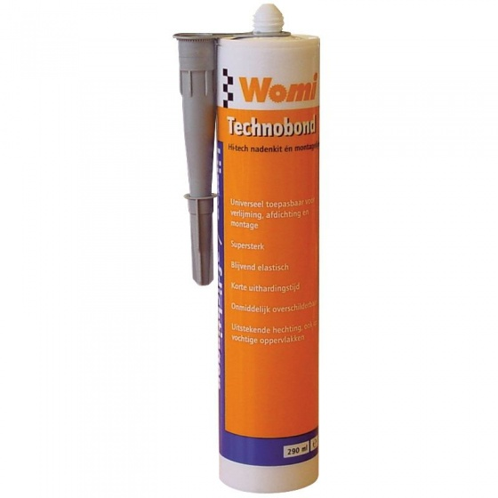 Womi Technobond elastische montagelijm 290 ml grijs