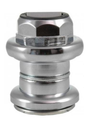 Tecora balhoofdstel EC24 met draad 1 1/8 inch aluminium zilver