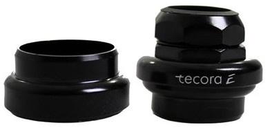 Tecora balhoofdstel met draad 1 1/8 inch zwart