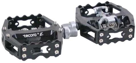 Tecora klikpedalen set SPD 9/16 inch zwart