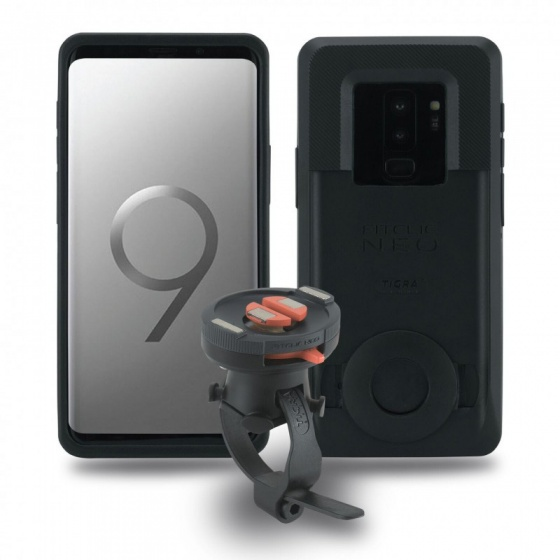 Tigra Sport telefoonhouder met hoes FitClic Neo Samsung Galaxy S9 Plus