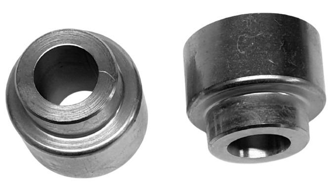 Tioga fittings OS TRC 18 mm staal zilver 2 stuks