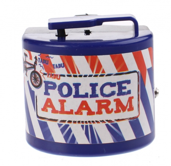 Toi Toys Politie fietsalarm blauw 5 x 5 x 6 cm