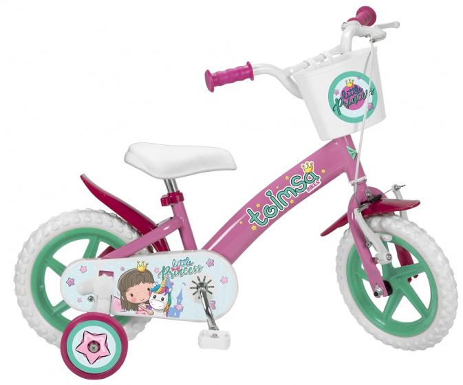 Toimsa Little Princess 12 Inch 21,5 cm Meisjes Terugtraprem Roze/Wit