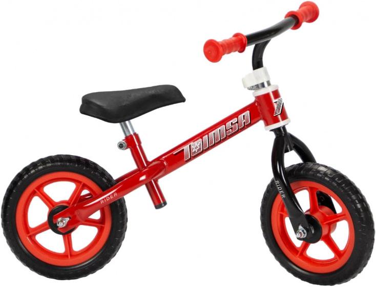Toimsa loopfiets Rider 10 Inch Jongens Rood