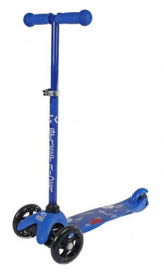 Street Rider - 3-wiel Kinderstep Junior Voetrem Blauw