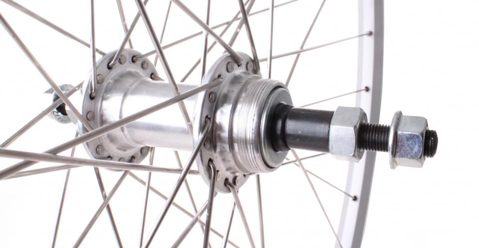 TOM achterwiel Zac 19 28 inch freewheel vast 36G zilver
