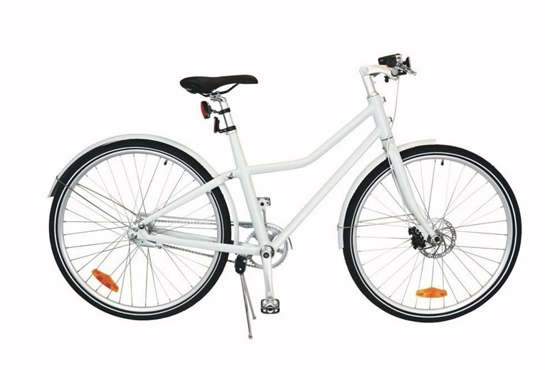 TOM City Bike Deluxe 26 Inch 45 cm Unisex 2V Schijfrem Wit