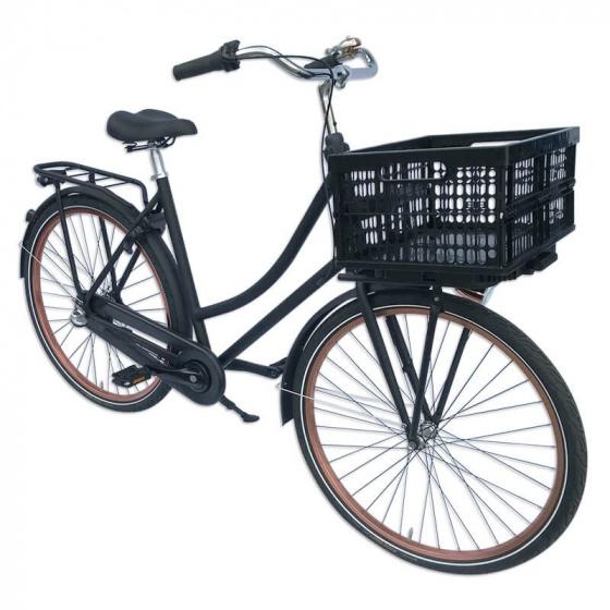 Plates 4 Bikes fietskrat vouwbaar 32 liter zwart 2 delig