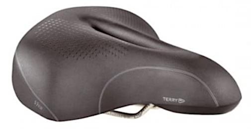 Terry fietszadel Viva Comfort heren staal/kunststof zwart