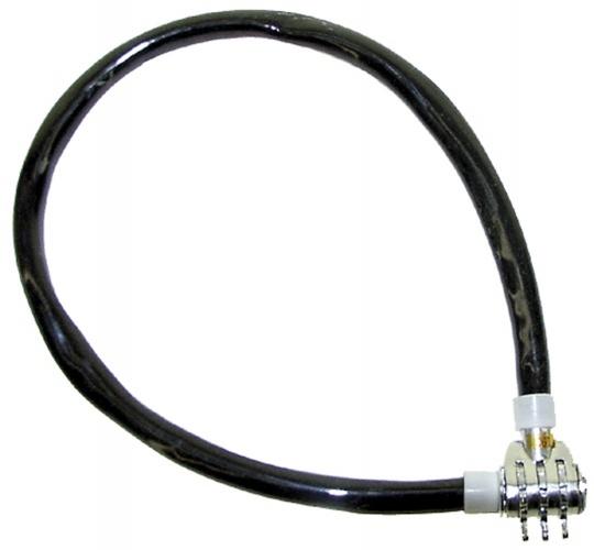 TOM kabelslot cijfercombinatie 500 x 10 mm zwart