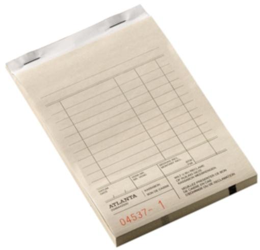 Atlanta kassablok 100 x 142 mm papier beige 50 x 2 vel (nl,fr)