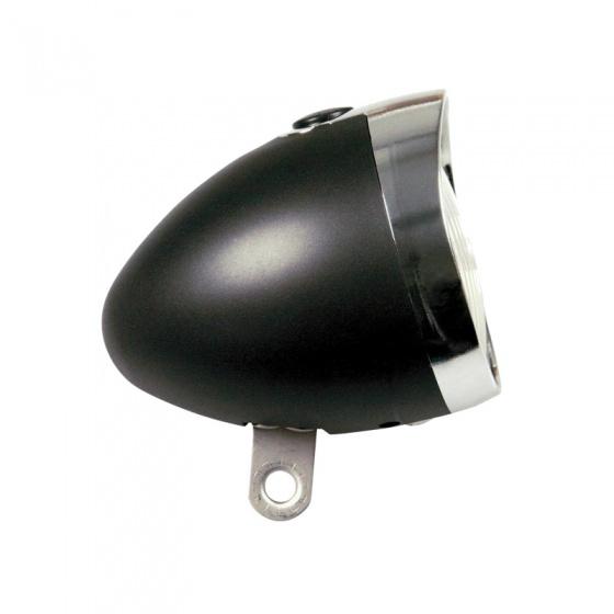 TOM koplamp 3 led batterij zwart