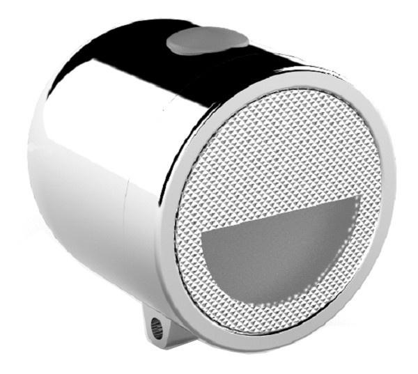 TOM koplamp Retro batterij led zilver