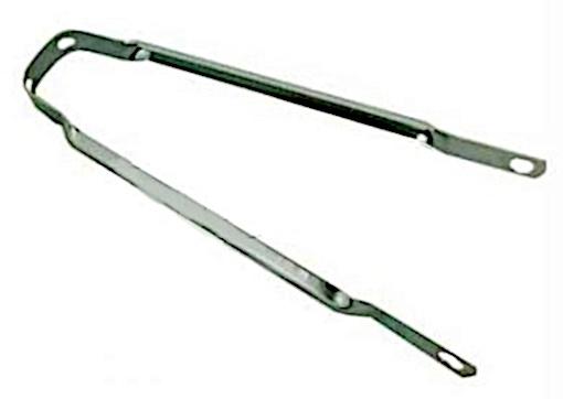 TOM Spatbordstang Staal 24 Inch Zilver Per Stuk