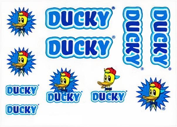 FC fietsstickers Ducky junior 14 x 20 cm papier blauw