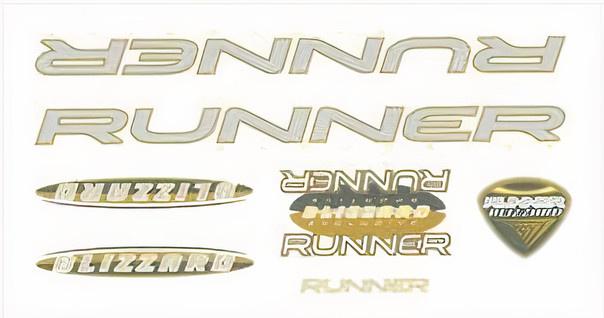 FC fietsstickers Runner fiets junior 28 x 16 cm papier geel