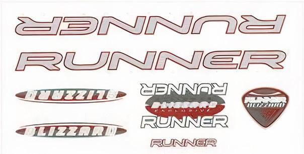 FC fietsstickers Runner fiets junior 28 x 16 cm papier rood