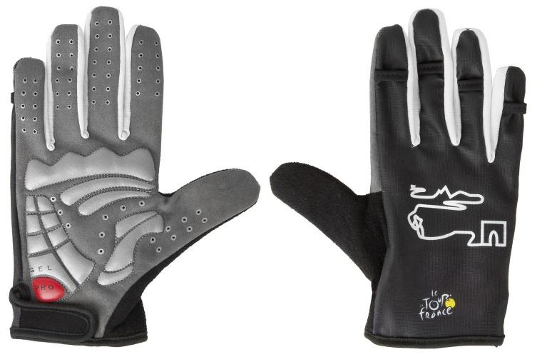Tour De France Handschoenen Gel Zwart Maat XL