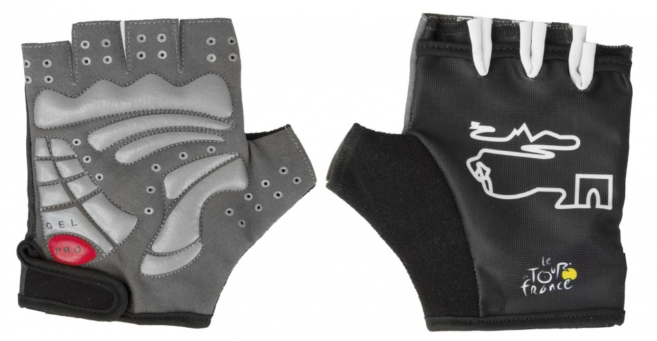 Tour De France Handschoenen Gel halve vingers maat XL