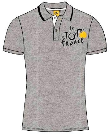 Tour De France Poloshirt Heren Grijs Maat L