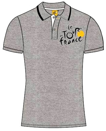 Tour De France Poloshirt Heren Grijs Maat XXL