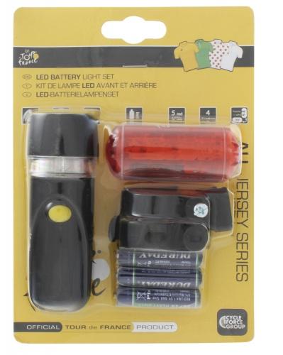Tour De France Set Batterijverlichting Voor en Achter