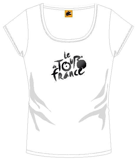 Tour De France T Shirt Dames Met Logo Wit Maat M
