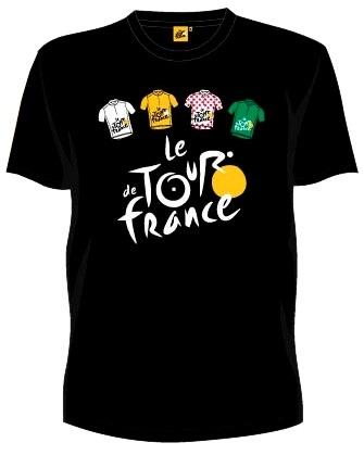 Tour De France T Shirt Heren Met Logo en Truien Zwart Maat XXL