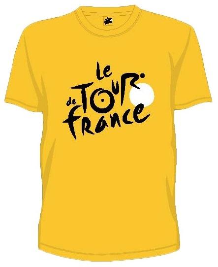 Tour De France T Shirt Heren Met Logo Geel Maat XS