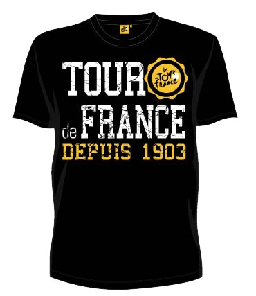 Tour De France T Shirt Heren Zwart Vintage Maat S