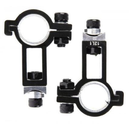 TranzX FT bevestigingsset voor opzetstuur 22,2 25,4 mm zwart
