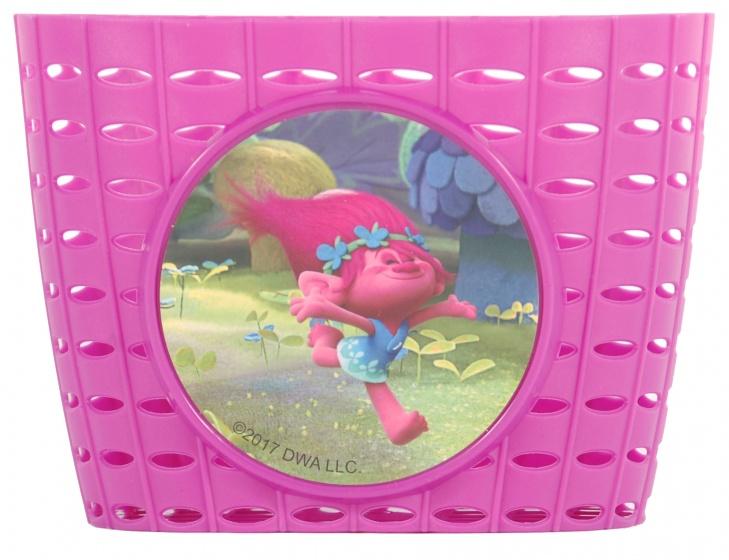 Dreamworks fietsmandje Trolls plastic roze