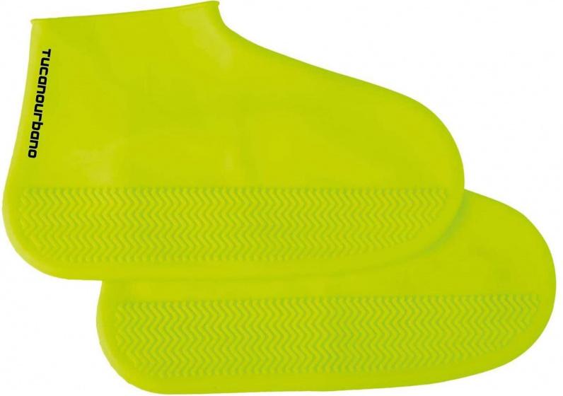 Tucano Urbano overschoenen Footerine siliconen geel maat M