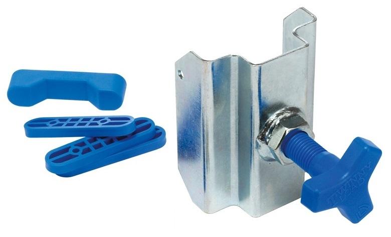 Twinny Load klemstuk aanslagblokjes met sterbout zilver/blauw