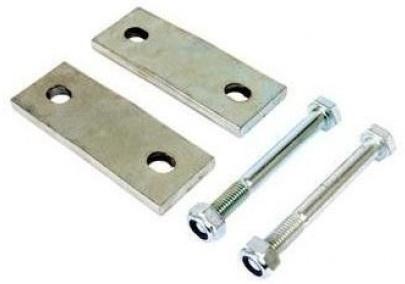 Twinny Load trekhaak plaatjes voor vierkante kogelhals zilver