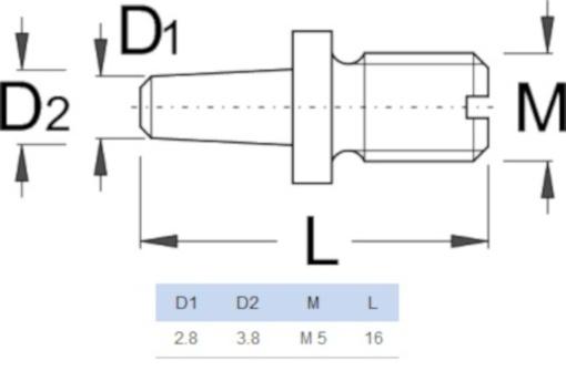 Unior kettingponstangstift E320 staal 16 mm zwart